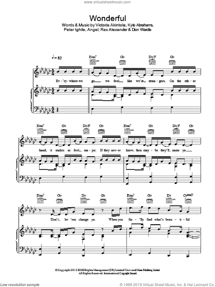 Wonderful sheet music for voice, piano or guitar by Victoria Akintola. Score Image Preview.