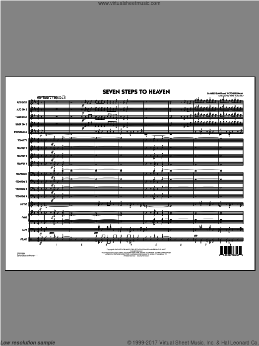 Seven Steps To Heaven (COMPLETE) sheet music for jazz band by Miles Davis