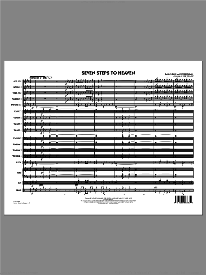 Seven Steps To Heaven (COMPLETE) sheet music for jazz band ( Ensemble) by Miles Davis, Victor Feldman and Mike Tomaro, intermediate skill level