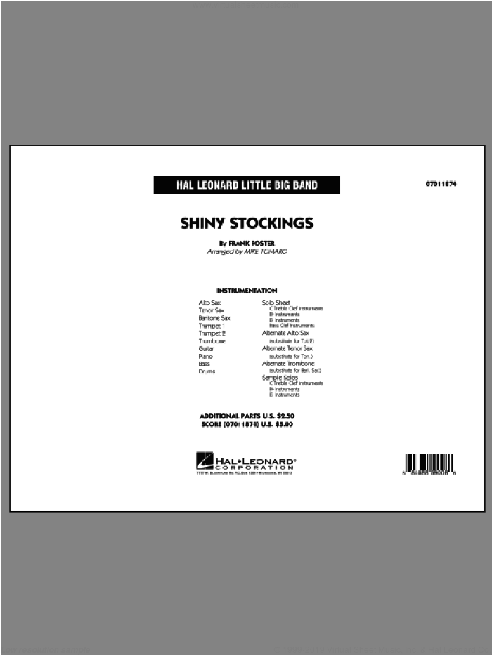 Shiny Stockings (COMPLETE) sheet music for jazz band ( Ensemble) by Frank Foster and Mike Tomaro, intermediate skill level
