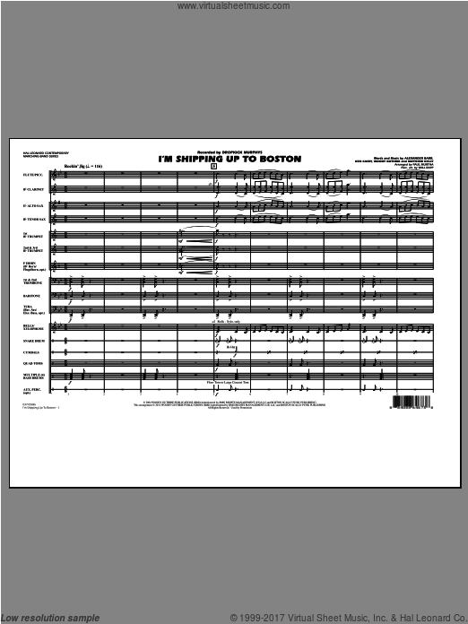 I'm Shipping Up To Boston (COMPLETE) sheet music for marching band by Alexander Barr
