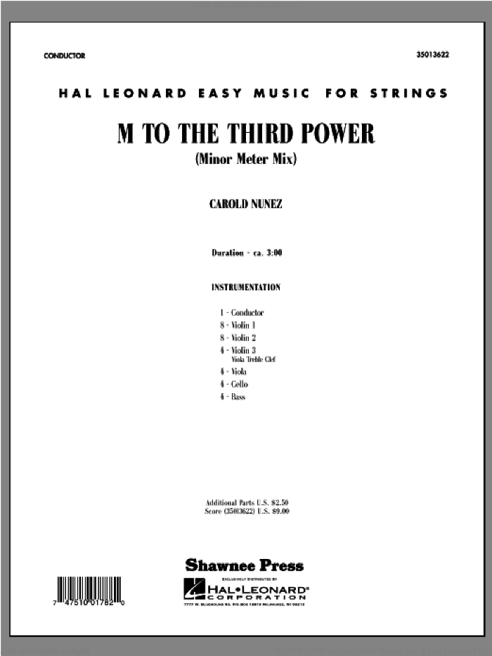 M To The Third Power (Minor Meter Mix) sheet music for orchestra (orchestra, score) by Carold Nunez