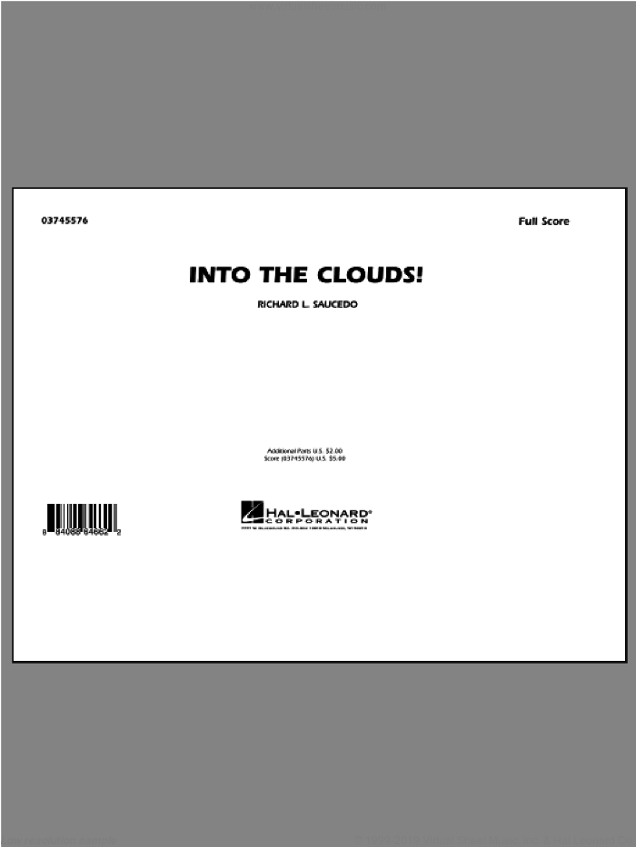 Into The Clouds! (COMPLETE) sheet music for marching band by Richard L. Saucedo, intermediate skill level