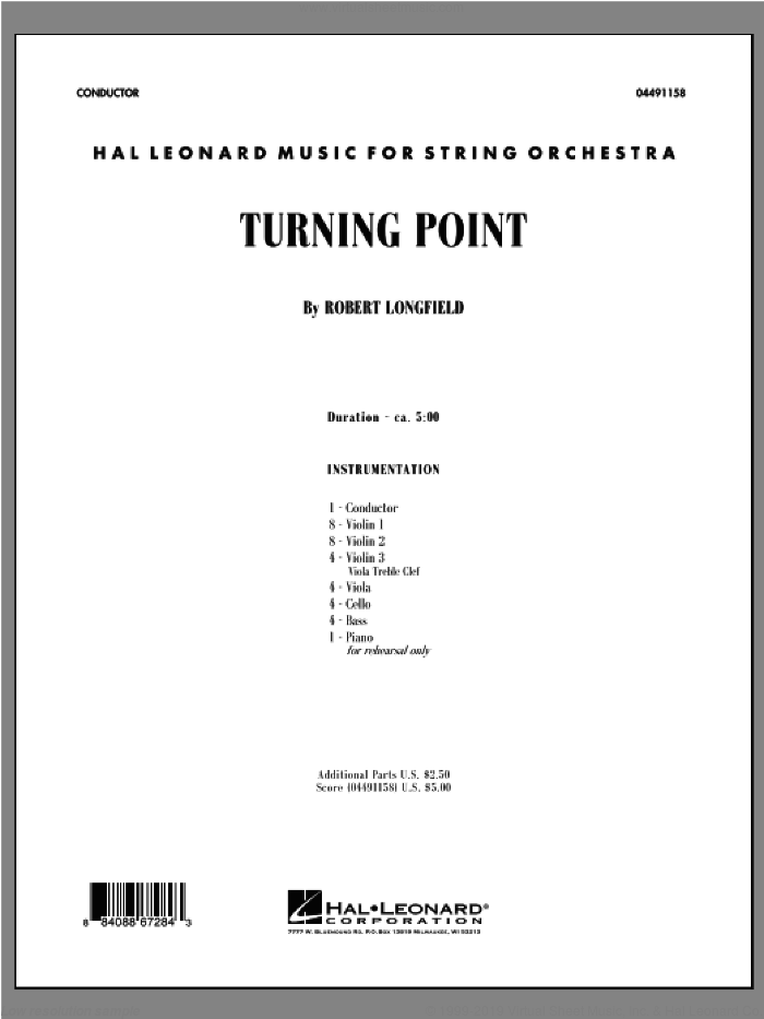 Turning Point (COMPLETE) sheet music for orchestra by Robert Longfield, intermediate