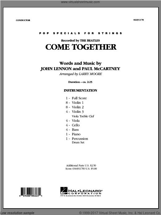 Come Together (COMPLETE) sheet music for orchestra by Larry Moore
