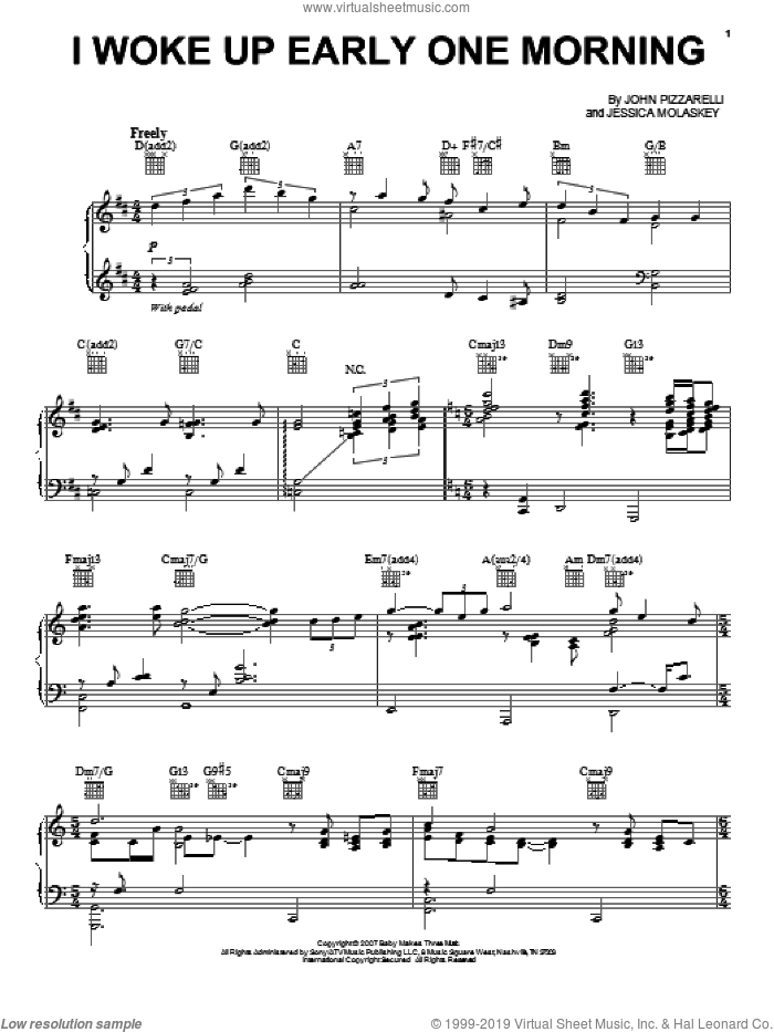 I Woke Up Early One Morning sheet music for voice, piano or guitar by John Pizzarelli. Score Image Preview.