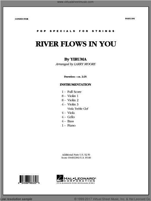 River Flows In You (COMPLETE) sheet music for orchestra by Larry Moore