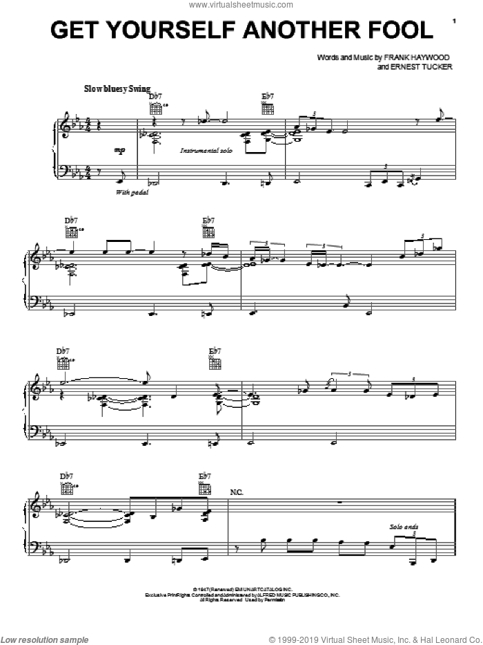 Get Yourself Another Fool sheet music for voice, piano or guitar by Paul McCartney. Score Image Preview.