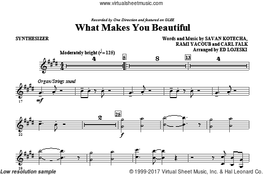 What Makes You Beautiful (COMPLETE) sheet music for orchestra by Carl Falk