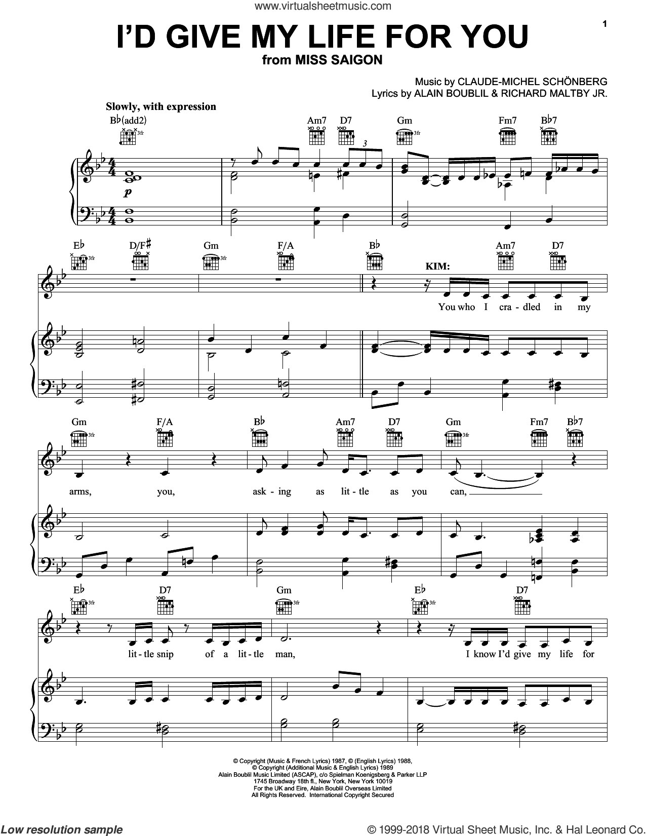 Broadway Selections from Miss Saigon (complete set of parts) sheet music for voice, piano or guitar by Claude-Michel Schonberg, Boublil and Schonberg, Alain Boublil, Miss Saigon (Musical) and Richard Maltby, Jr., intermediate skill level