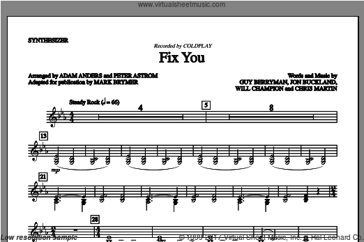 Fix You (COMPLETE) sheet music for orchestra by Mark Brymer
