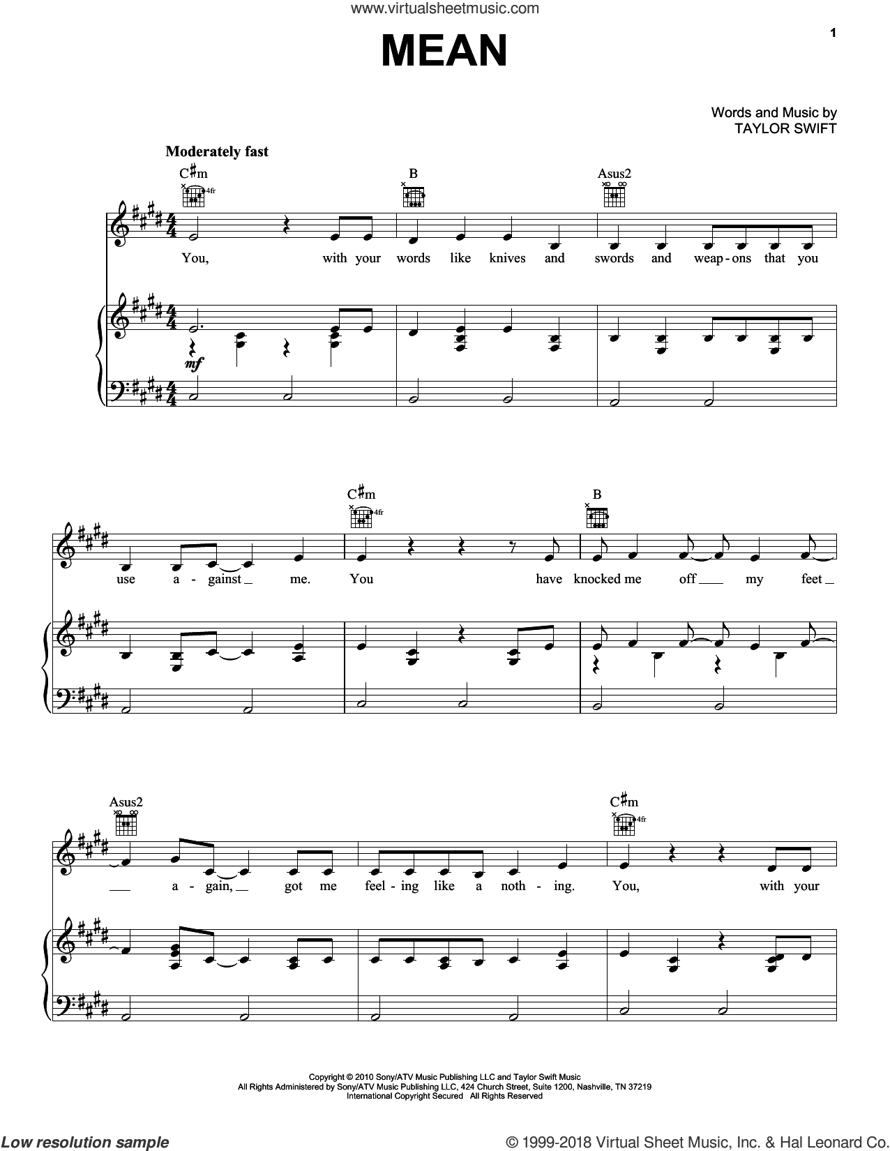 Taylor Swift Hits (complete set of parts) sheet music for voice, piano or guitar by Taylor Swift, Liz Rose, Max Martin and Shellback, intermediate skill level