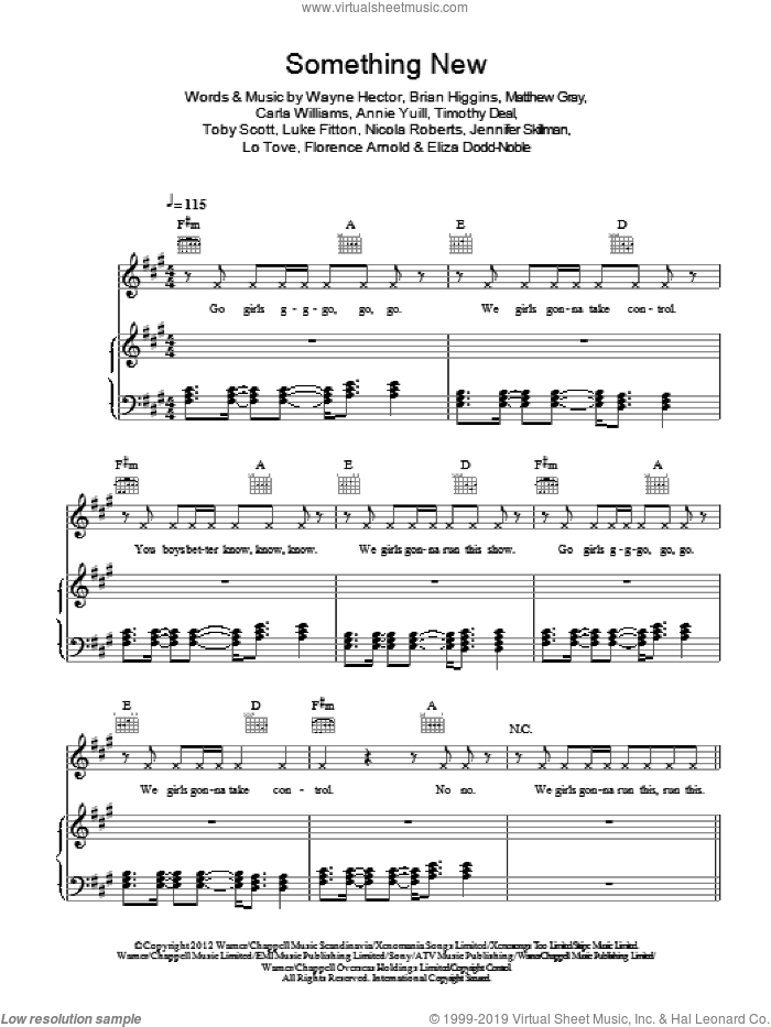Something New sheet music for voice, piano or guitar by Wayne Hector