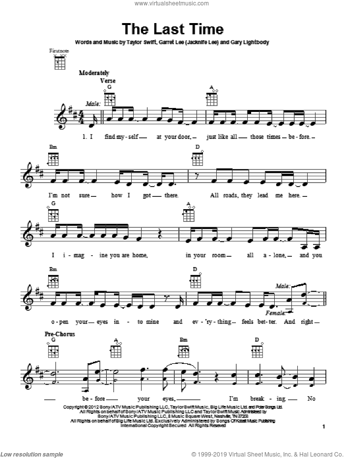Taylor Swift Last Christmas Piano Sheet