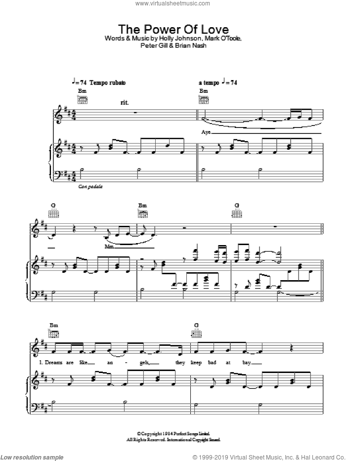The Power Of Love sheet music for voice, piano or guitar by Gabrielle Aplin and Peter Gill, intermediate skill level