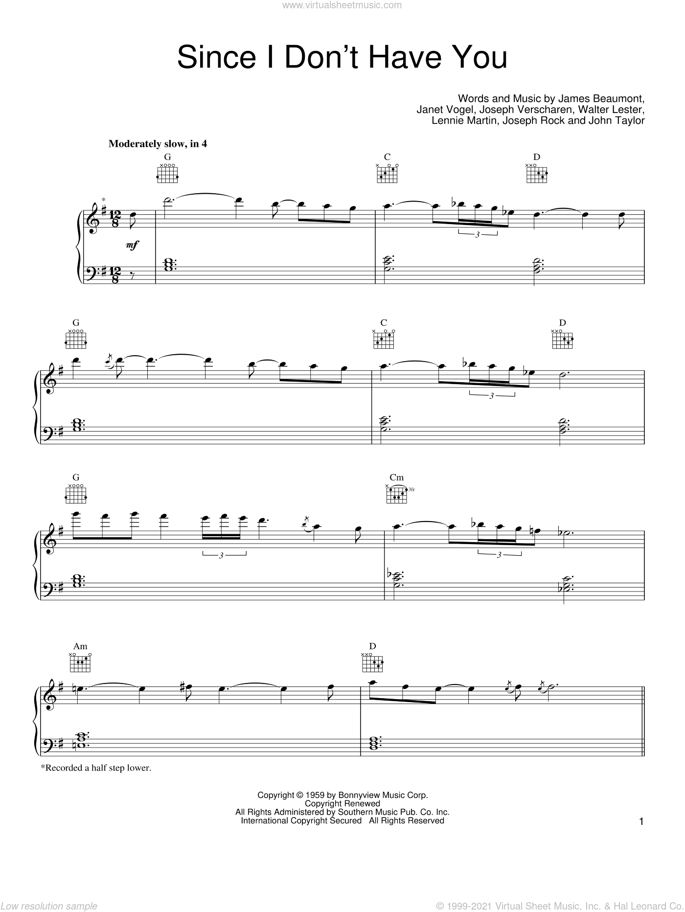 Since I Don't Have You sheet music for voice, piano or guitar by Guns N' Roses, intermediate skill level