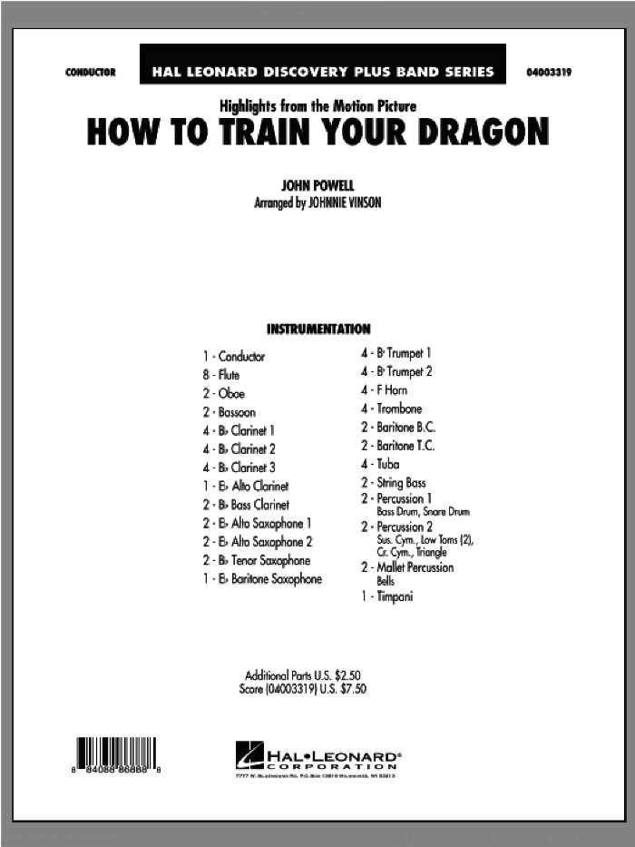 Powell highlights from how to train your dragon sheet music highlights from how to train your dragon complete sheet music for concert band by ccuart Gallery