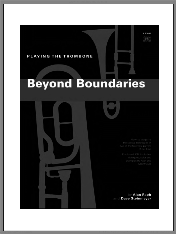 Beyond Boundaries sheet music for trombone solo by Steinmeyer & Raph. Score Image Preview.