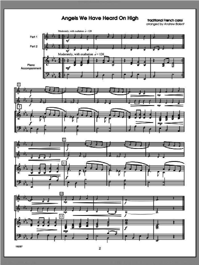 Christmas FlexDuets sheet music for piano solo and C instruments by Balent. Score Image Preview.