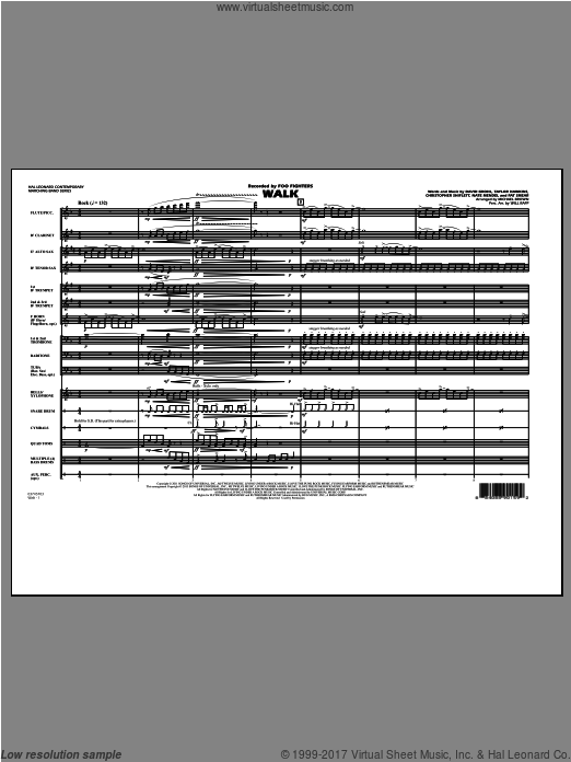 Walk (COMPLETE) sheet music for marching band by Michael Brown