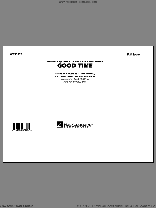 Good Time (COMPLETE) sheet music for marching band by Paul Murtha