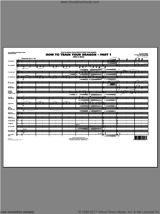 How To Train Your Dragon Part 1 (COMPLETE) sheet music for marching band by Michael Brown