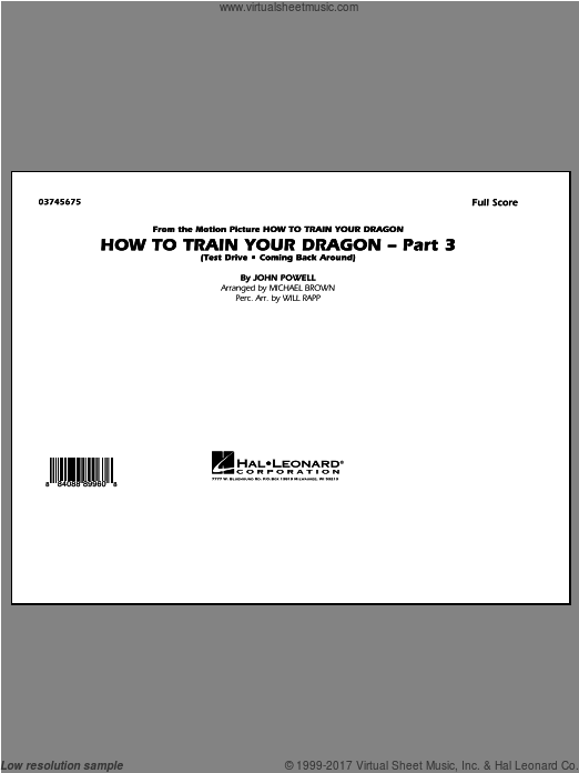 How To Train Your Dragon Part 3 (COMPLETE) sheet music for marching band by John Powell