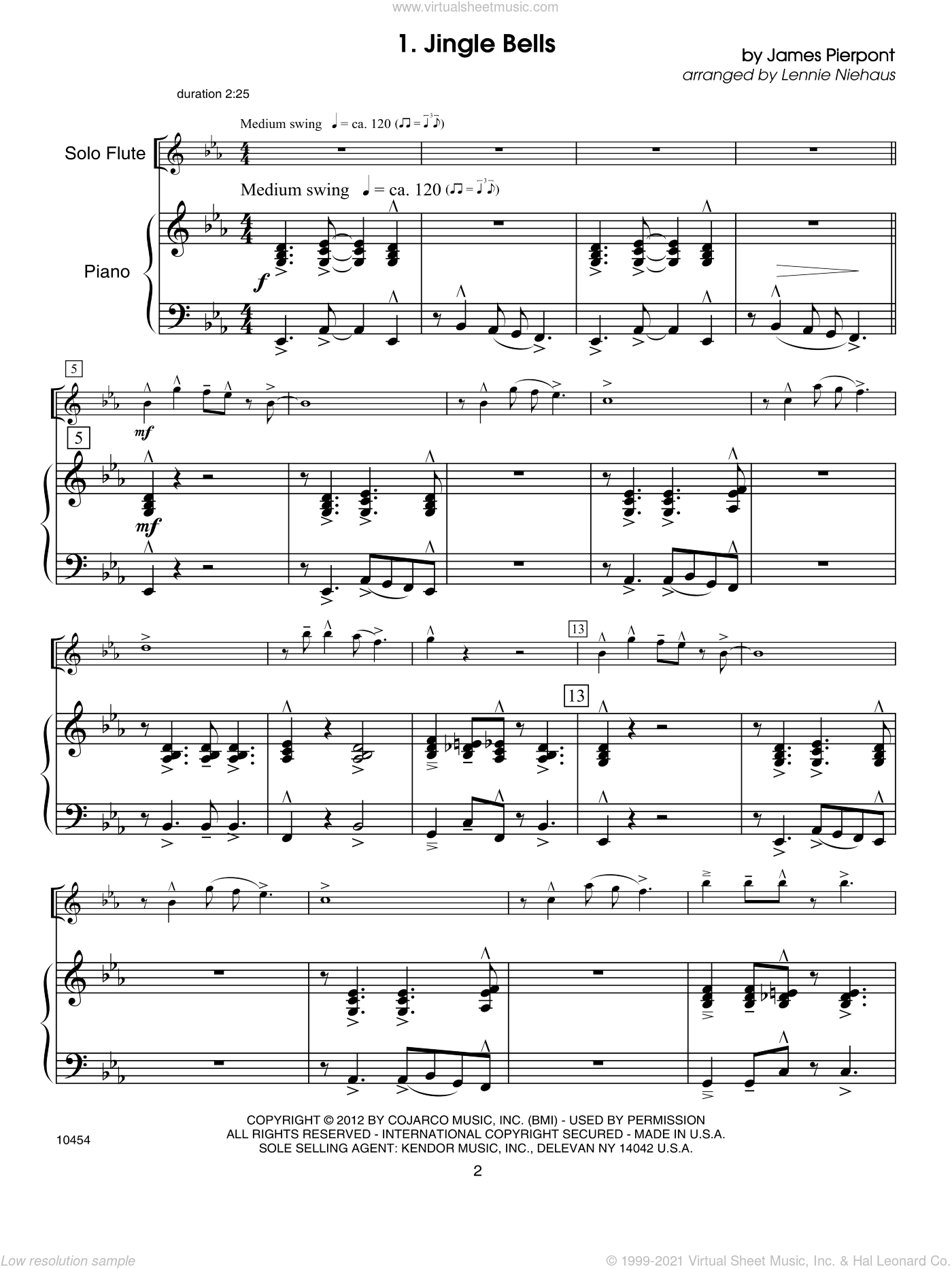 Christmas Lites sheet music for flute and piano (piano/score) by Lennie Niehaus