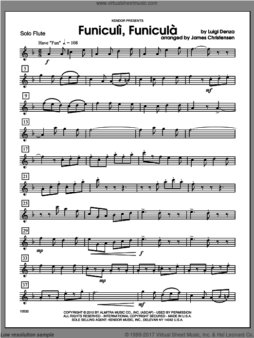 - Flute (COMPLETE) sheet music for flute and piano by Denza