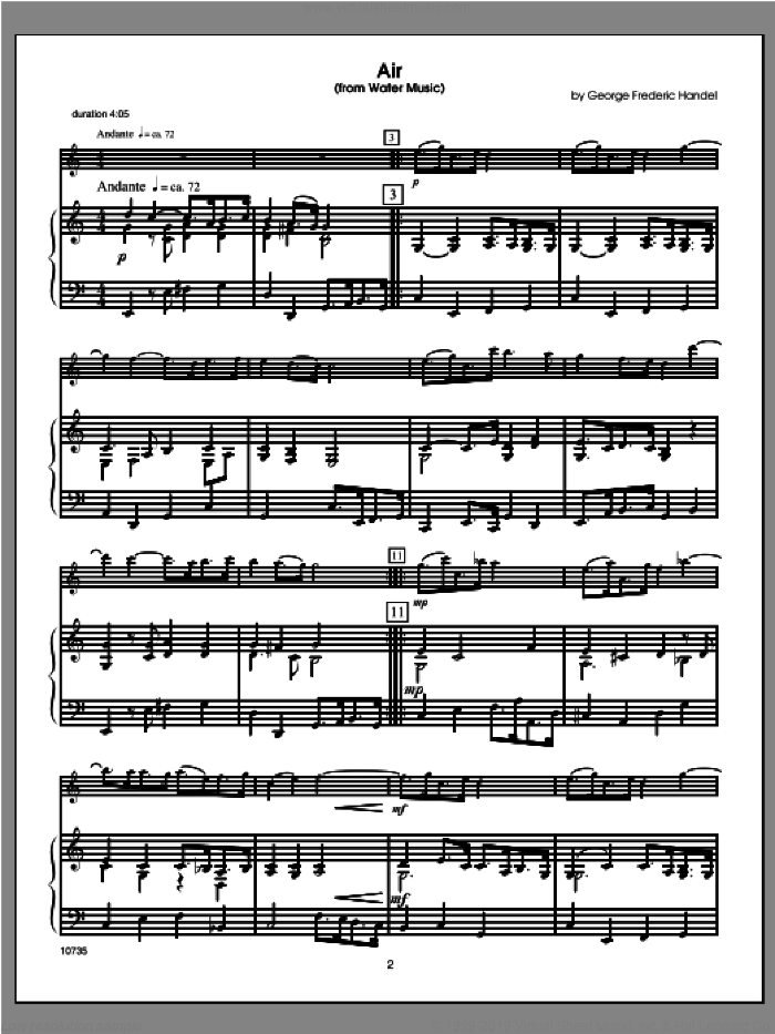 Wedding Masterworks, flute sheet music for flute and piano (piano/score) by Halferty