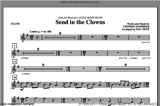 Send in the Clowns (COMPLETE) sheet music for orchestra by Mac Huff