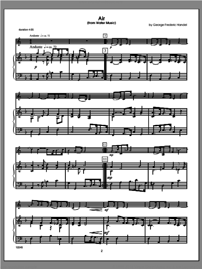 Wedding Masterworks, horn in f sheet music for horn and piano (piano/score) by Halferty