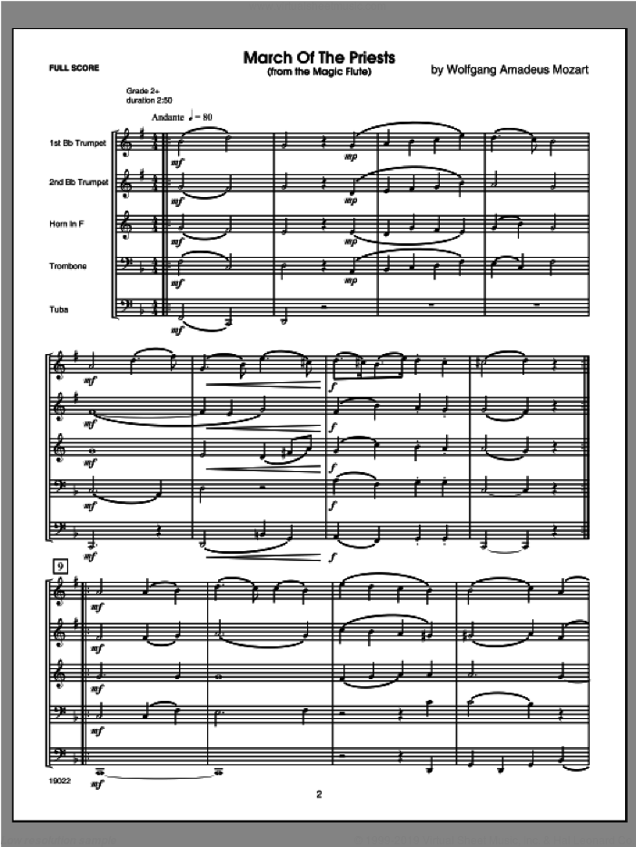 Six Classical And Romantic Piece (COMPLETE) sheet music for brass quintet by Kaisershot, classical score, intermediate brass quintet. Score Image Preview.