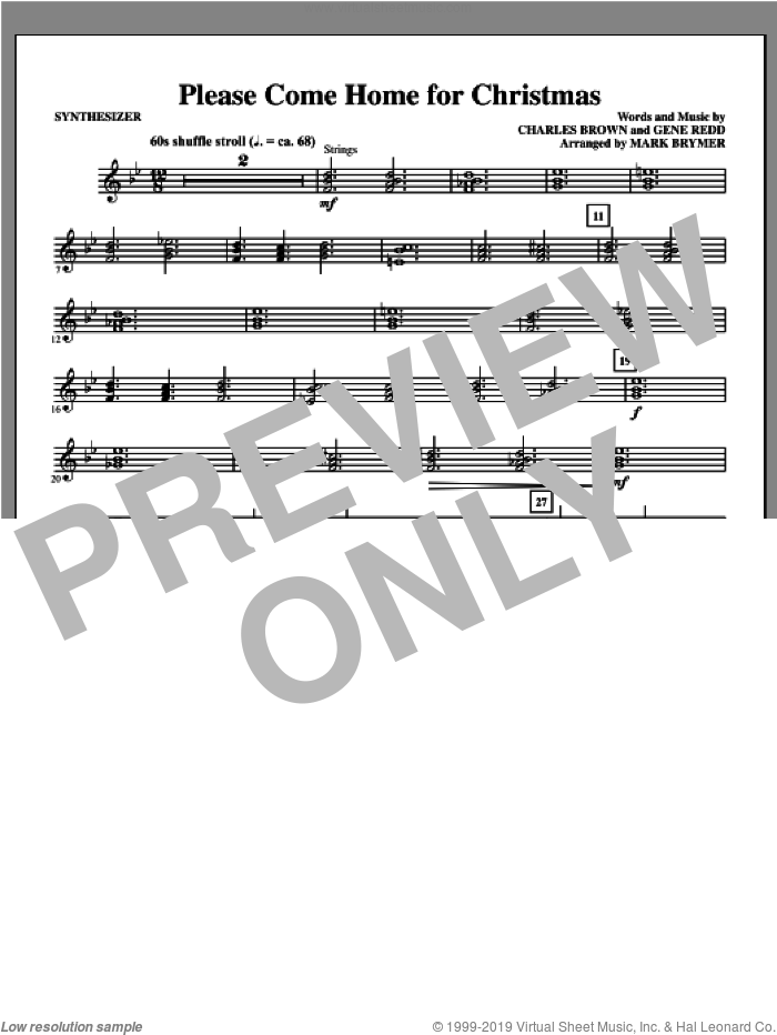 Please Come Home for Christmas (complete set of parts) sheet music for orchestra/band by Mark Brymer, intermediate skill level