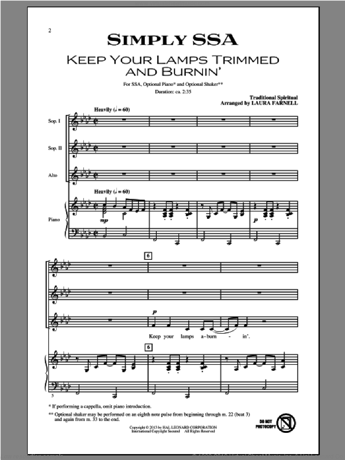 Simply (Four Songs For Treble Chorus) sheet music for choir by Laura Farnell, intermediate. Score Image Preview.