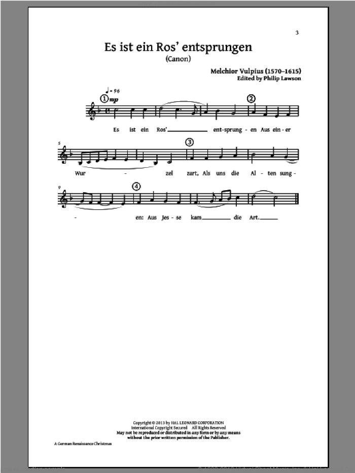 A German Renaissance Christmas (Choral Collection) sheet music for choir and piano by Philip Lawson. Score Image Preview.