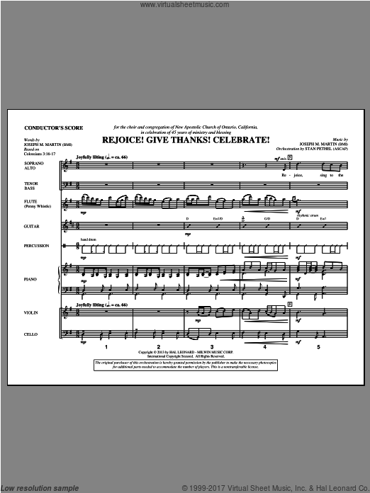 Rejoice! Give Thanks! Celebrate! (COMPLETE) sheet music for orchestra by Joseph M. Martin