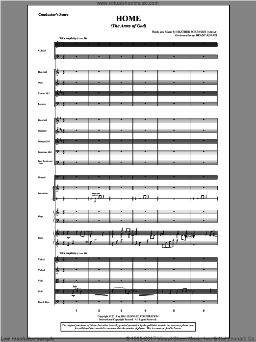 Home (The Arms of God) (COMPLETE) sheet music for orchestra by Heather Sorenson