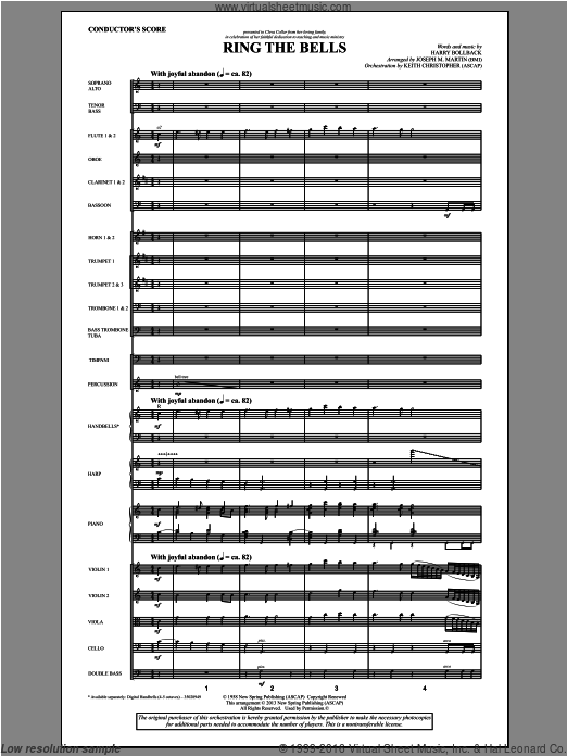 Ring the Bells (COMPLETE) sheet music for orchestra by Joseph M. Martin. Score Image Preview.