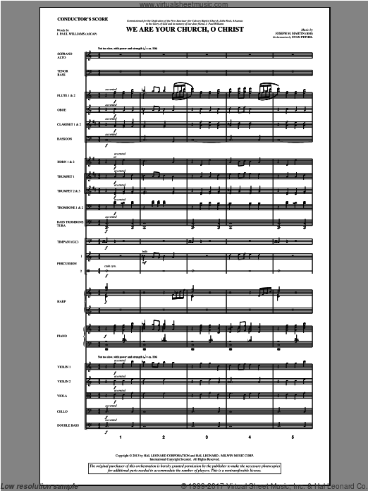 We Are Your Church, O Christ (COMPLETE) sheet music for orchestra by Joseph M. Martin
