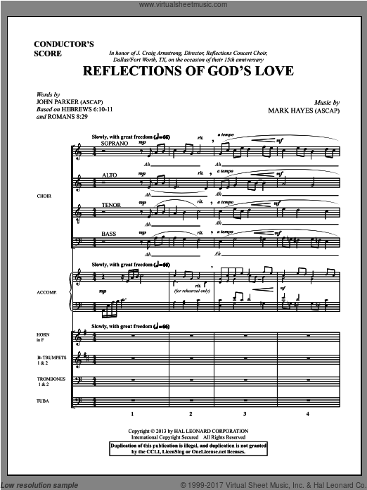 Reflections of God's Love (COMPLETE) sheet music for orchestra by Mark Hayes