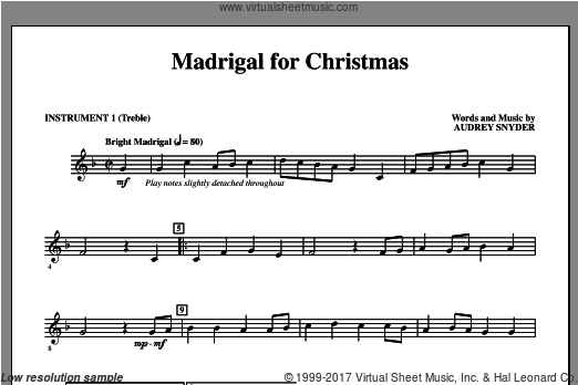 Madrigal for Christmas (COMPLETE) sheet music for orchestra by Audrey Snyder