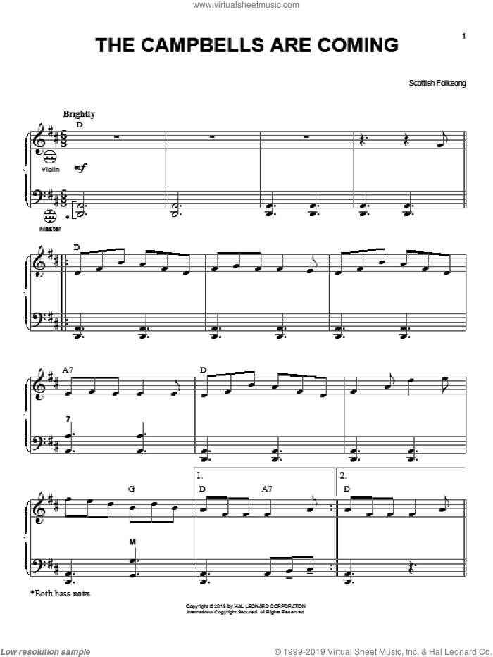The Campbells Are Coming sheet music for accordion by Gary Meisner, intermediate accordion. Score Image Preview.