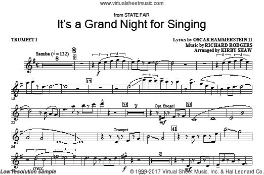 It's a Grand Night for Singing (COMPLETE) sheet music for orchestra by Richard Rodgers
