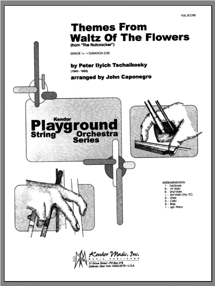 Themes From Waltz Of The Flowers (From The Nutcracker) (COMPLETE) sheet music for orchestra by John Caponegro, Pyotr Ilyich Tchaikovsky and Tschaikowsky, classical score, intermediate skill level