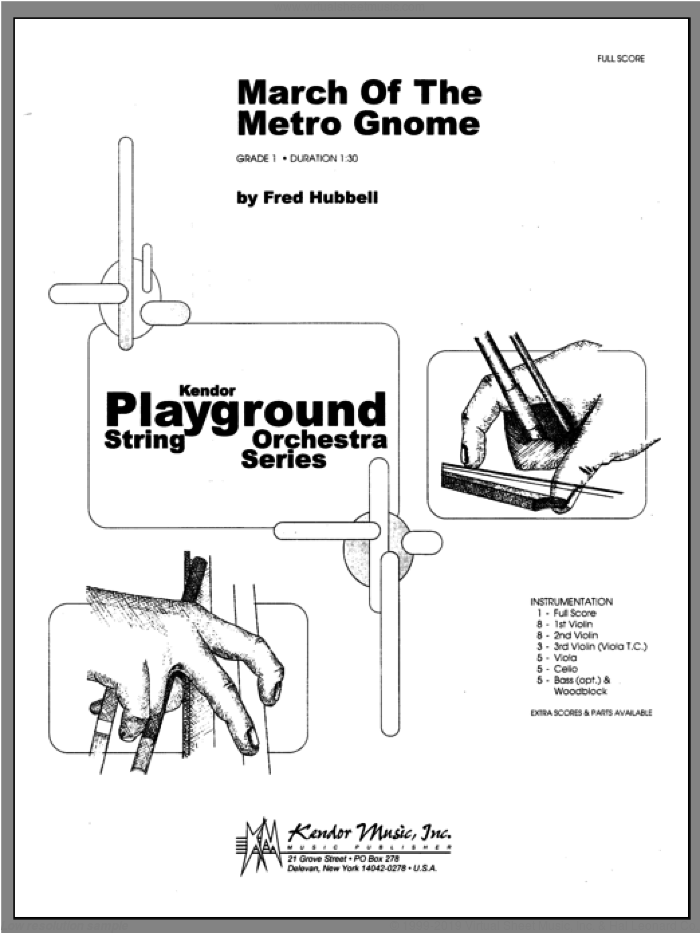 March Of The Metro Gnome (COMPLETE) sheet music for orchestra by Hubbell, classical score, intermediate skill level