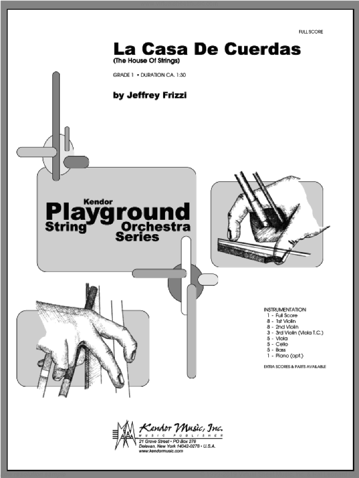 La Casa De Cuerdas (The House Of Strings) (COMPLETE) sheet music for orchestra by Frizzi, classical score, intermediate orchestra. Score Image Preview.