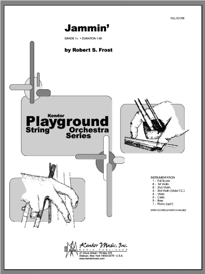 Jammin' (COMPLETE) sheet music for orchestra by Frost, classical score, intermediate