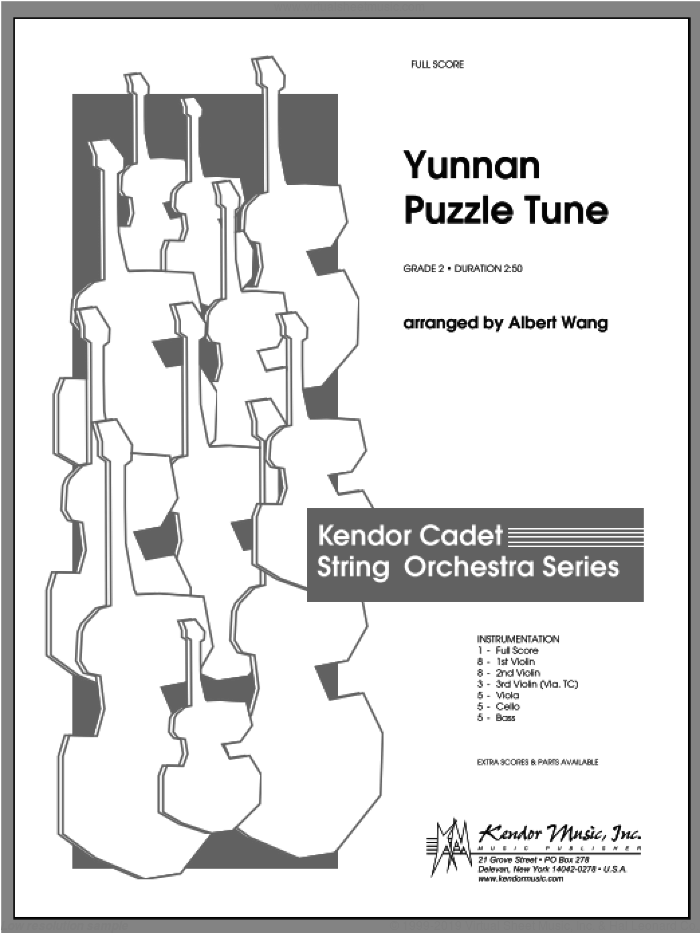 Yunnan Puzzle Tune sheet music for orchestra (full score) by Wang