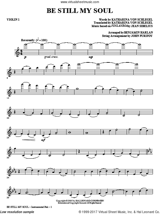 Be Still My Soul (COMPLETE) sheet music for orchestra by Jane L. Borthwick